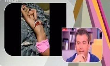 Η ειρωνεία του Λιάγκα για τη φωτογραφία της Μενεγάκη: «Σαν χταπόδι που την χτυπάνε στον βράχο»