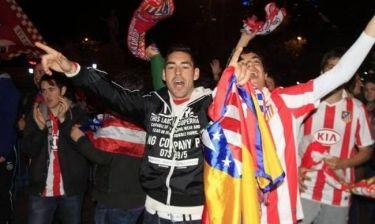 Ατλέτικο Μαδρίτης: Πανηγυρισμοί και επεισόδια με Αστυνομία (photos+videos)