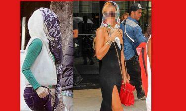 Η μαντήλα έγινε μόδα! Μετά την Μενεγάκη και γνωστή τραγουδίστρια εμφανίστηκε με μαντήλα!