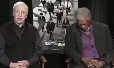 Απίστευτο βίντεο! Morgan Freeman: Τον πήρε ο ύπνος την ώρα που έδινε συνέντευξη!