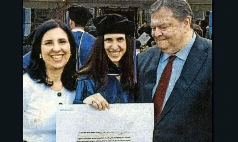 Ο Βενιζέλος καμάρωσε την κόρη του στην ορκωμοσία της