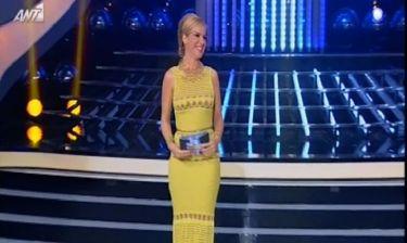 «Your faces sounds familiar»: Με κίτρινη τουαλέτα η Μαρία Μπεκατώρου απόψε στο σόου