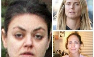 10 stars που είναι αγνώριστες χωρίς make-up!