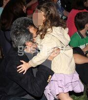 Ο Πέτρος Τατσόπουλος σε εκδήλωση με την κόρη του