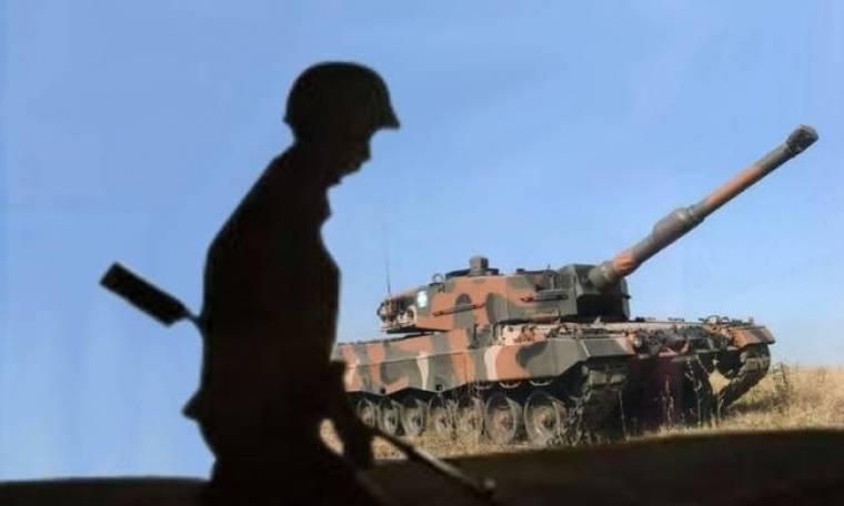 Νεκρός στρατιώτης έπειτα από ανατροπή άρματος μάχης