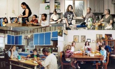 Φωτογράφος απαθανάτιζε επί δέκα χρόνια οικογένειες που έτρωγαν πάντα ενωμένες τα γεύματά τους! (φωτό)
