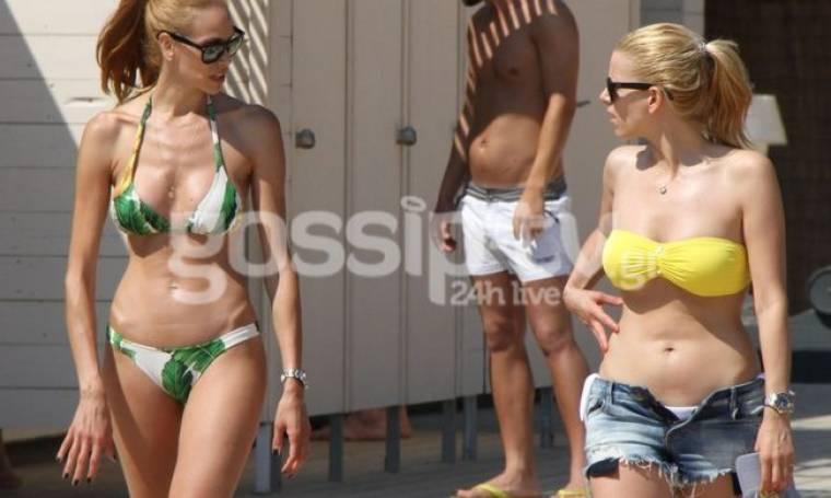 Στέλλα & Χριστίνα Δημητρίου: Τις συναντήσαμε στην πλαζ!!