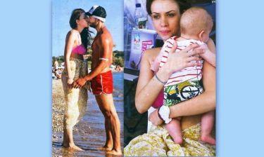 Ερωτικά φιλιά και τρυφερή αγκαλιά στον γιο της