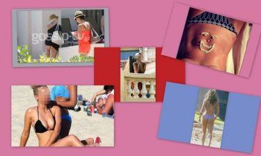 Η καυτή πόζα της Αραβανή, η γυμνή Rihanna  σε μπαλκόνι ξενοδοχείου και η σέξι μαμά Κατερίνα Λάσπα!