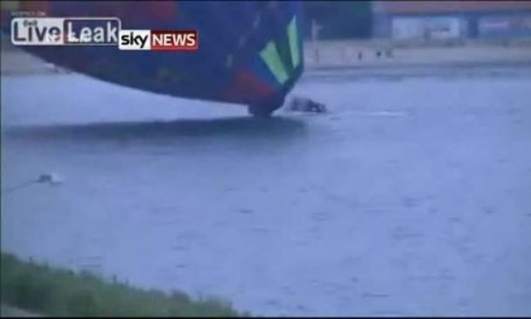 Βίντεο: Αερόστατο με επιβάτες έπεσε σε λίμνη