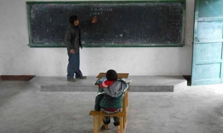 Ο μοναδικός μαθητής σε ολόκληρο σχολείο!