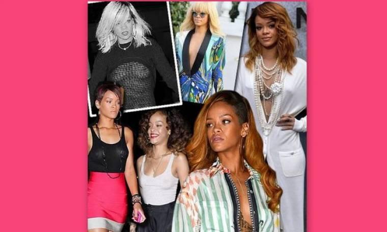 "Rihanna: λανσάροντας το look ""χωρίς σουτιέν"""