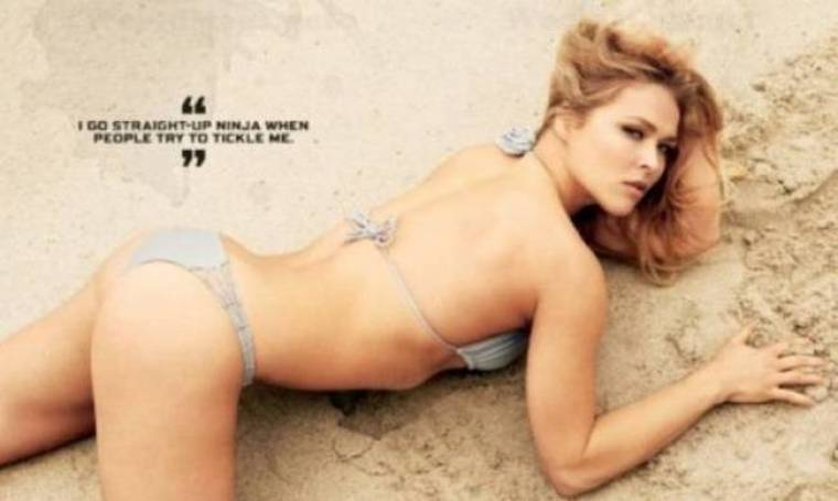 UFC 168: Ημίγυμνη φωτογράφηση της Rousey