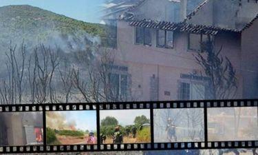 Καίγονται σπίτια στον Μαραθώνα