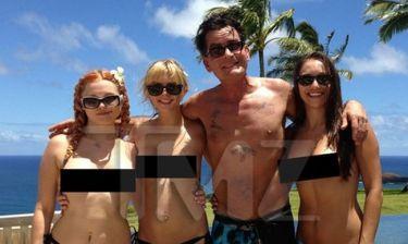 Ο Charlie Sheen και το χαρέμι  του!