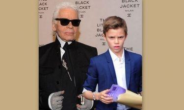 Πως θα έμοιαζε ο Romeo Beckham αν ήταν γιος του Karl Lagerfeld;