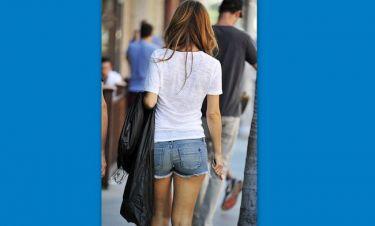 Pretty woman walking down the street!