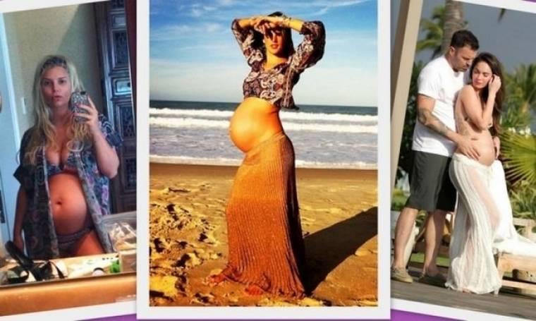 Διάσημες έγκυες με μπικίνι στην παραλία! (φωτογραφίες)