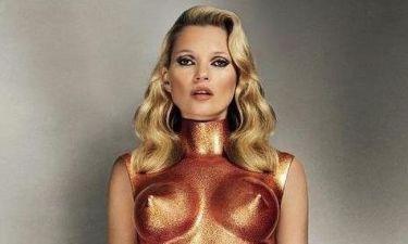 Η Kate Moss με... μεταλλικό κορμάκι!