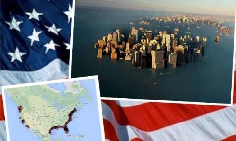 1.429 πόλεις των ΗΠΑ θα «χαθούν» κάτω από το νερό!
