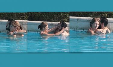 Έλενα Γκρέκου: Αγκαλίτσες και φιλάκια στην πισίνα με τον αγαπημένο της