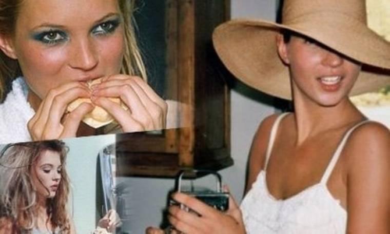 Ποιος είπε ότι τα supermodels δεν τρώνε; Η Kate Moss αποδεικνύει το αντίθετο!