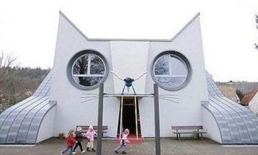 Ένα γλυκύτατο νηπιαγωγείο σε σχήμα γάτας