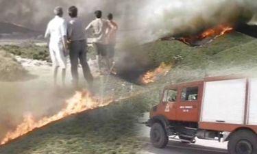 Πύρινη κόλαση στη Λιβαδειά