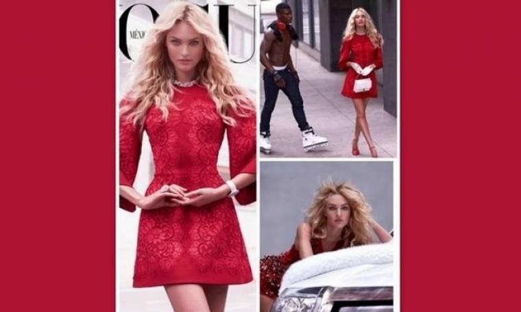 Girl on fire: Η Candice Swanepoel στα κόκκινα για την Vogue Mexico