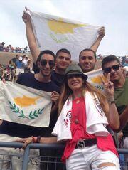 Άννα Βίσση: Στο γήπεδο για τον Μάρκο Παγδατή