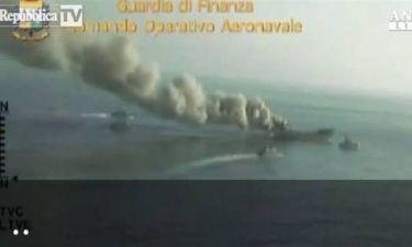 Βίντεο: Πυρπόλησαν πλοίο με 30 τόνους χασίς!