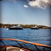 Ηλίας Ψινάκης: Στις Σπέτσες με το σκάφος του