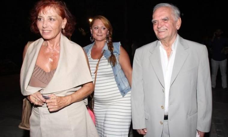 Λευτέρης Παπαδόπουλος: Στο Ηρώδειο με την γυναίκα και τη κόρη του