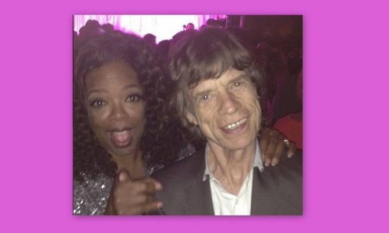 Τα έτσουξε η Oprah Winfrey με τον Mick Jagger