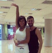 Κωνσταντίνα-Συνατσάκη-Κάβδας: Φωτογραφίες από τις πρόβες τους για το «Dancing with the stars 4»