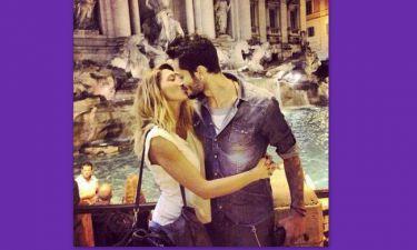 Ηλιάδη-Γκέντσογλου: Τα «καυτά» φιλιά στην Fontana di Trevi! (φωτό)