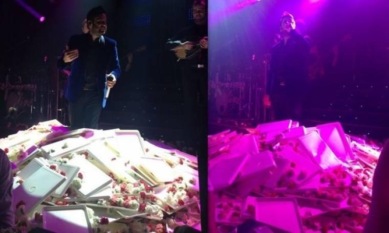 «Έχτισαν» με λουλούδια στην πίστα τον Γιαννιά στην πρεμιέρα του! (φωτό)