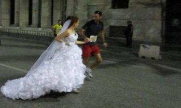Τρελάθηκαν οι Θεσσαλονικείς: Η νύφη το έσκασε με δρομέα (photos)!