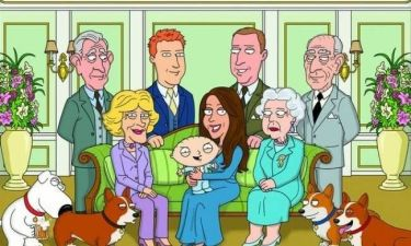 Η βάπτιση του Πρίγκιπα Τζορτζ γίνεται καρτούν