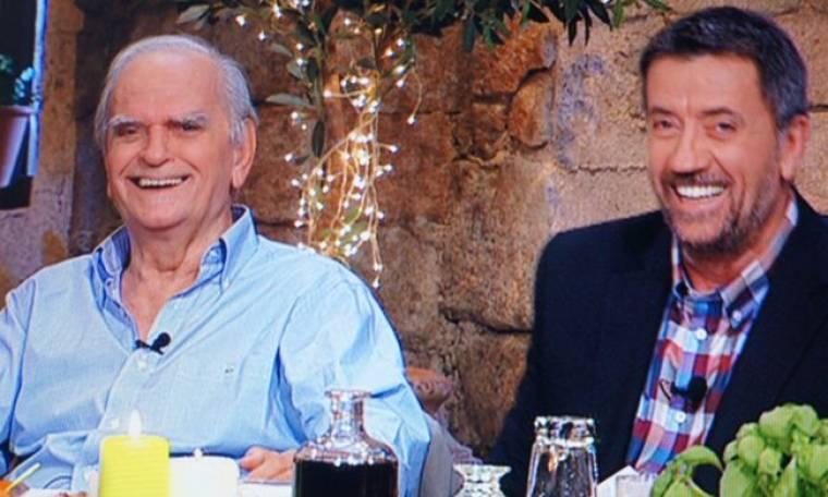 O Λευτέρης Παπαδόπουλος στην εκπομπή «Στην υγειά μας ρε παιδιά»
