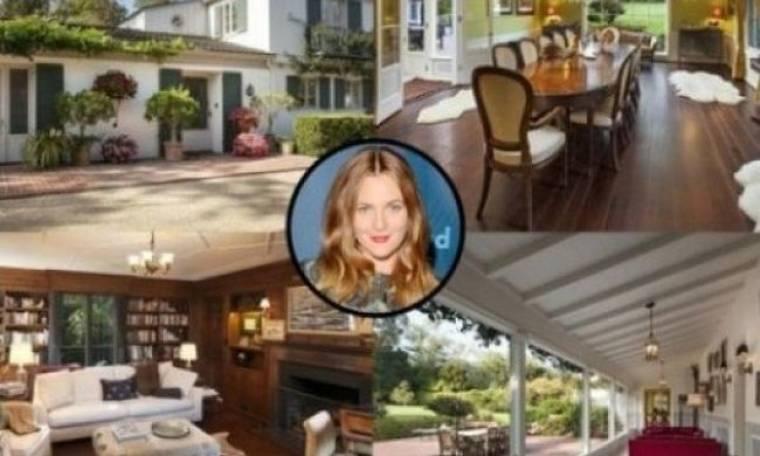 Drew Barrymore. Πόσο πούλησε την έπαυλή της στην Καλιφόρνια;