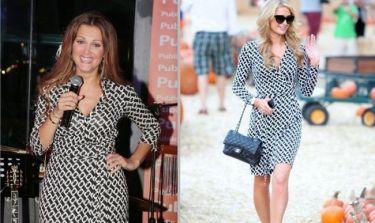 Θεοδωρίδου-Hilton: Με… το ίδιο φόρεμα