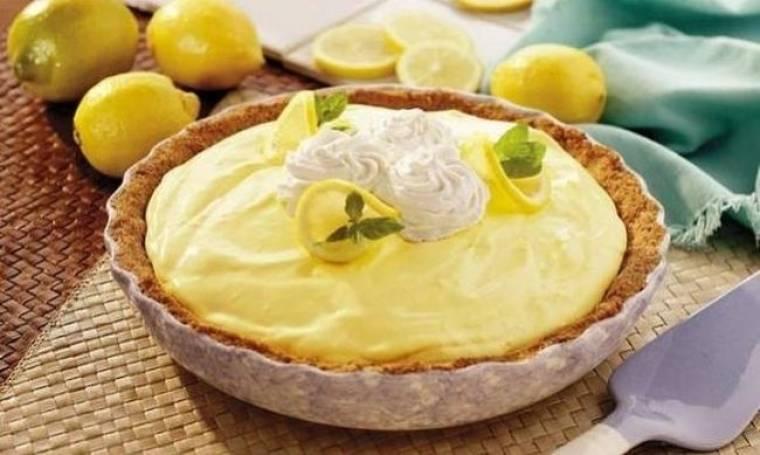 Συνταγή για εύκολη τάρτα λεμονιού