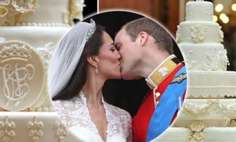 Απίστευτο! Πόσο πωλήθηκε ένα κομμάτι από τη γαμήλια τούρτα του William και της Kate;