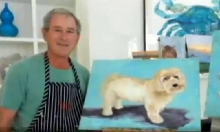 Ο πρώην πρόεδρος Τζορτζ Μπους ασχολείται πλέον με τη ζωγραφική