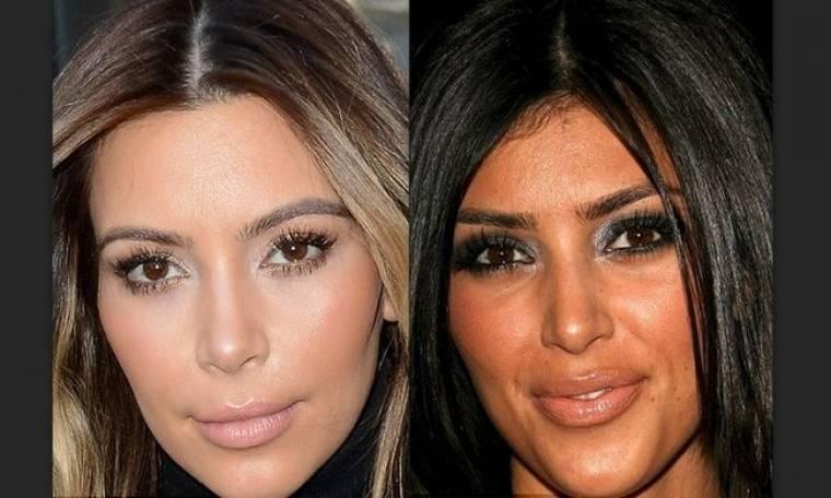Σε τσακώσαμε! Τι έκανες Kim στο πρόσωπό σου;