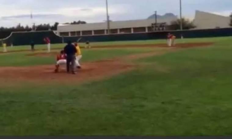 Το μπέιζμπολ είναι επικίνδυνο άθλημα... (βίντεο)