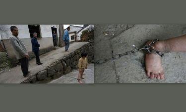 Συγκλονιστικές εικόνες! Κρατούν αγόρι αλυσοδεμένο στην Κίνα!