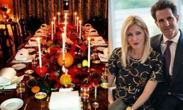 Η Marie Chantal έστρωσε γιορτινό τραπέζι! (φωτογραφίες)