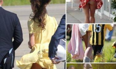 Ο αέρας φταίει για όλα: Ποιες star ρεζιλεύτηκαν όταν τα ρούχα τους έκαναν... φτερά;
